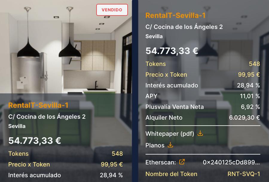 Vendido el primer piso tokenizado de Sevilla en 20 horas